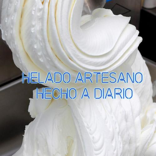 helado artesano hecho en tienda